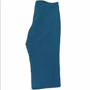 George Cropped Turquoise Pants